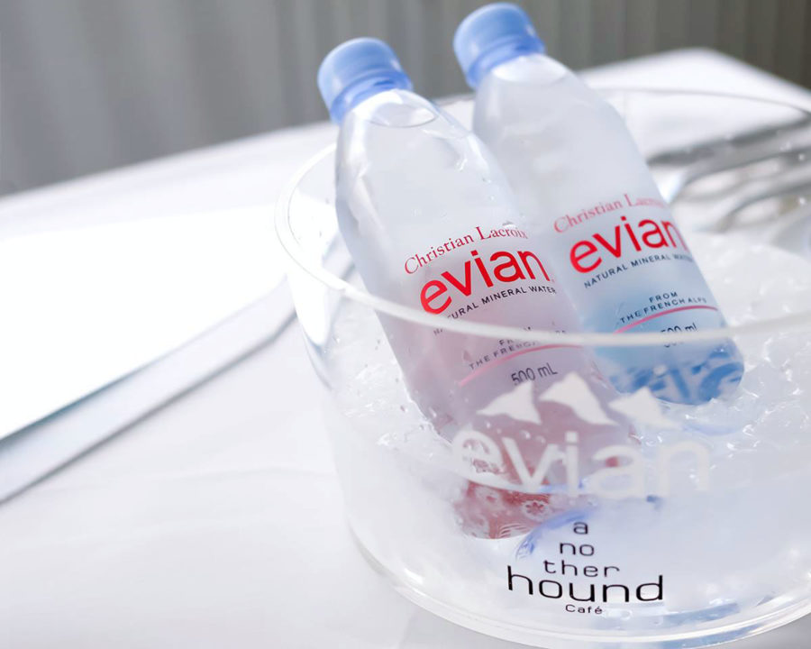 evian x Christian Lacroix at Another Hound Cafe
